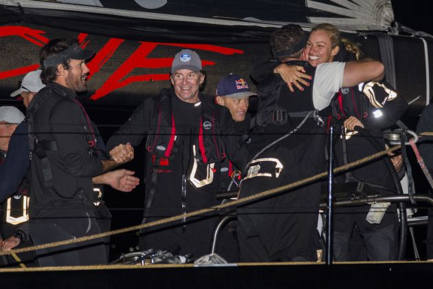 Comanche crew celebrate with co-owner Kristy Clark and skipper Ken Read - Credit Rolex