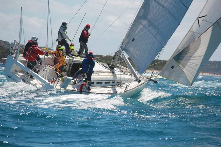 White Noise shorlty after the start in Port Phillip Bay. Photo ORCV Media.