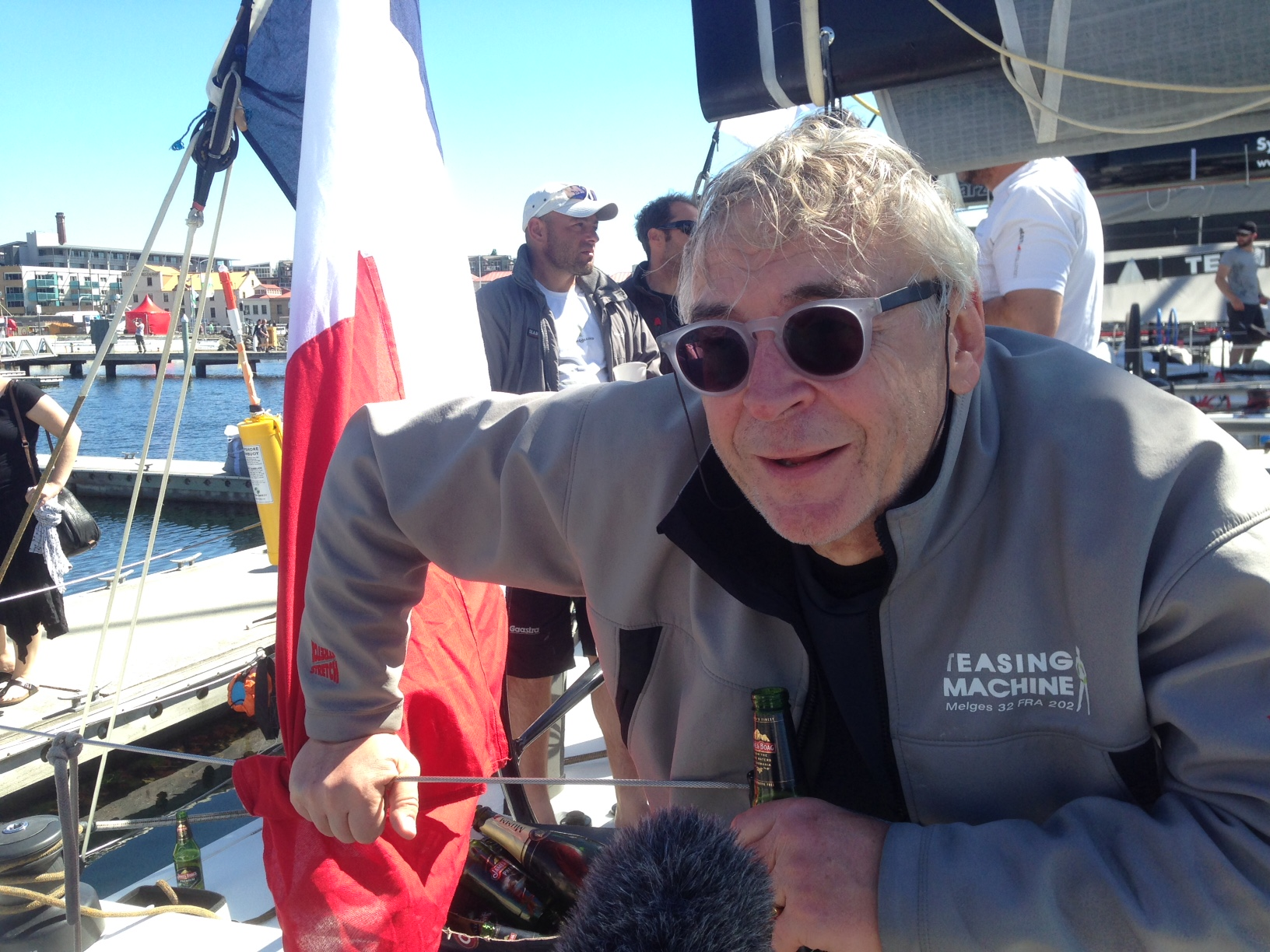 Eric de Turckheim reflecting on the race. Photo Bruce Montgomery