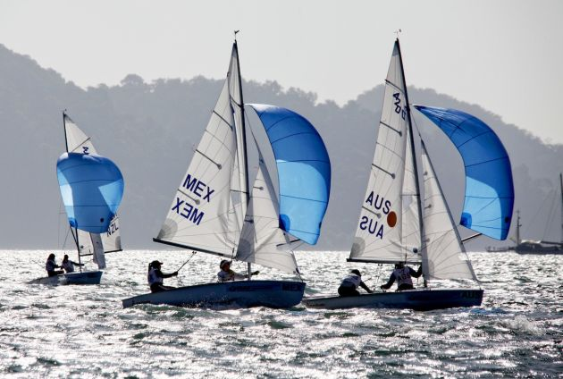 Nia Jerwood and Lisa Smith (AUS) in the 420. Photo World Sailing.