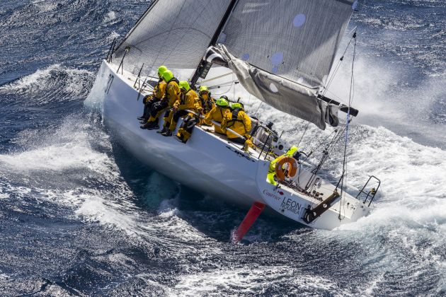 Courrier Leon reefed down in the southerly. Photo ROLEX/Studio Borlenghi/Stefano Gattini.