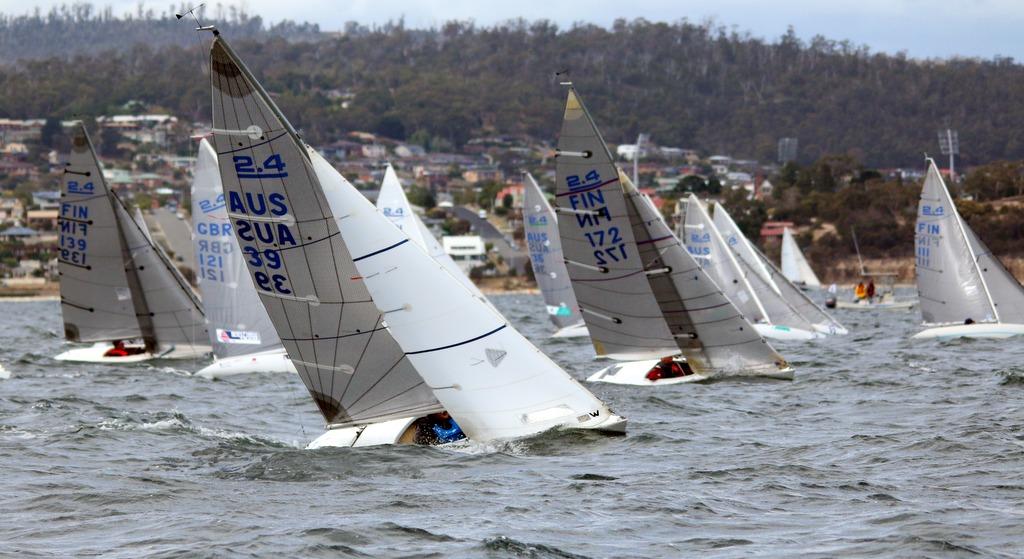 Start of today's opening race in the 2015 Australian championship. Photo Angus Calvert.