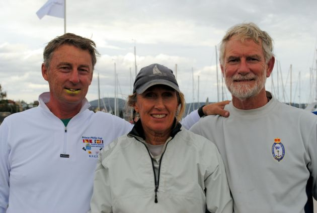 West Australian Sandy Anderson (centre) and her crew of Linnea