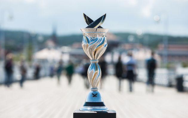 The World Match Racing Tour trophy. Photo WMRT.