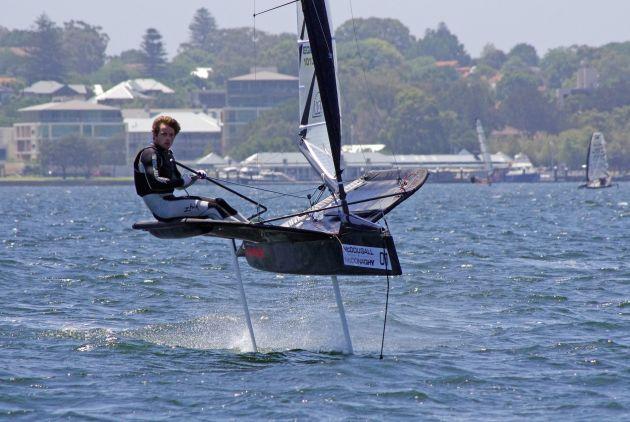 Josh McKnight. Images by Rick Steuart of Perth Sailing Photography.