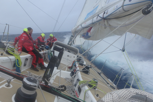 LMAX Exchange in the Clipper Race. Photo Clipper Ventures.