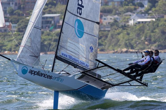 Witt and his team drive Appliancesonline.com.au to victory.  Photo 18 Footers League.