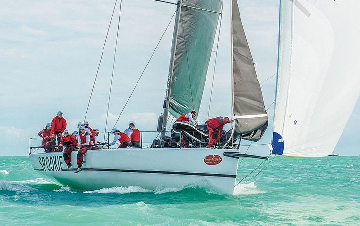 Spookie had a great day to take the lead in IRC 1 - photo Sara Proctor/Quantum Key West.