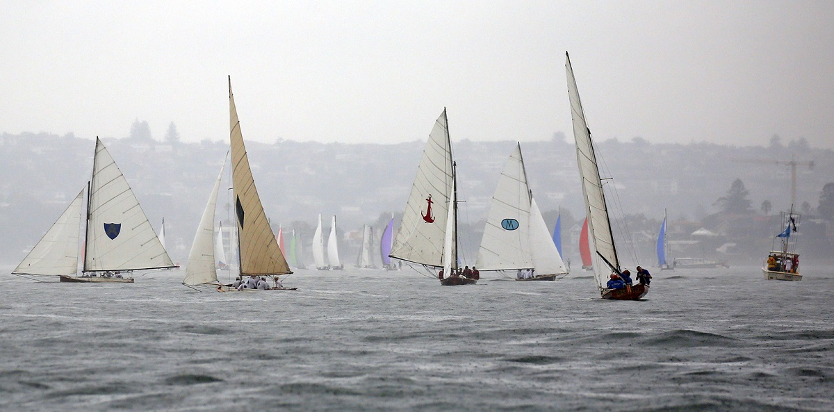 Racing was cancelled on day one of the Historical 18s National Championship. Photo Michael Chittenden.