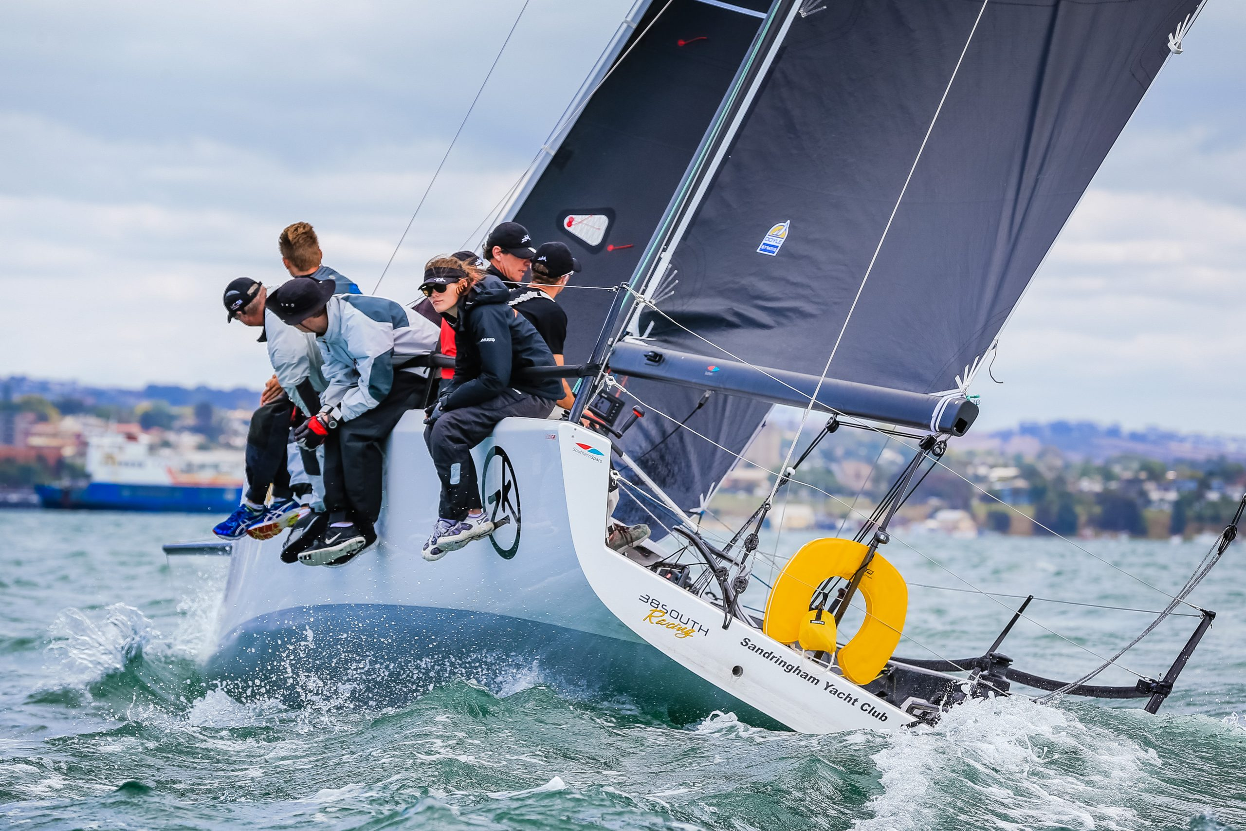 38 South Racing at Festival of Sails. Photo Saltwater Images.