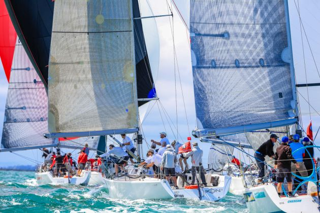 Close action in the Sydney 38s. Photo Saltwater Images.