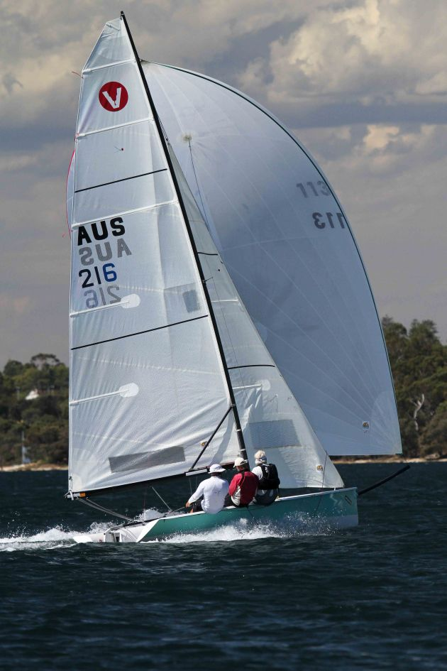 Rod Beurteaux has the Viper You Jump In the Bowl in perfect control on Blackwall Reach Photo Angela Kaaks.