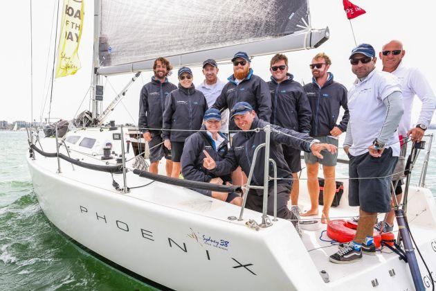 Sydney 38 Australian Champion crew from Phoenix. Photo Saltwater Images.