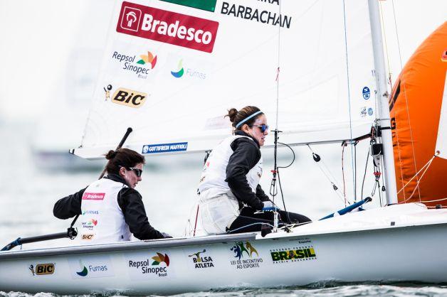 Fernanda Oliveira and Ana Luiza Barbachan. Photo Pedro Martinez/Sailing Energy/World Sailing.