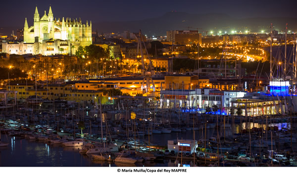 The GC32s will visit iconic venues like Palma de Mallorca. Photo Maria Muina/Copa Del Rey MAPFRE.