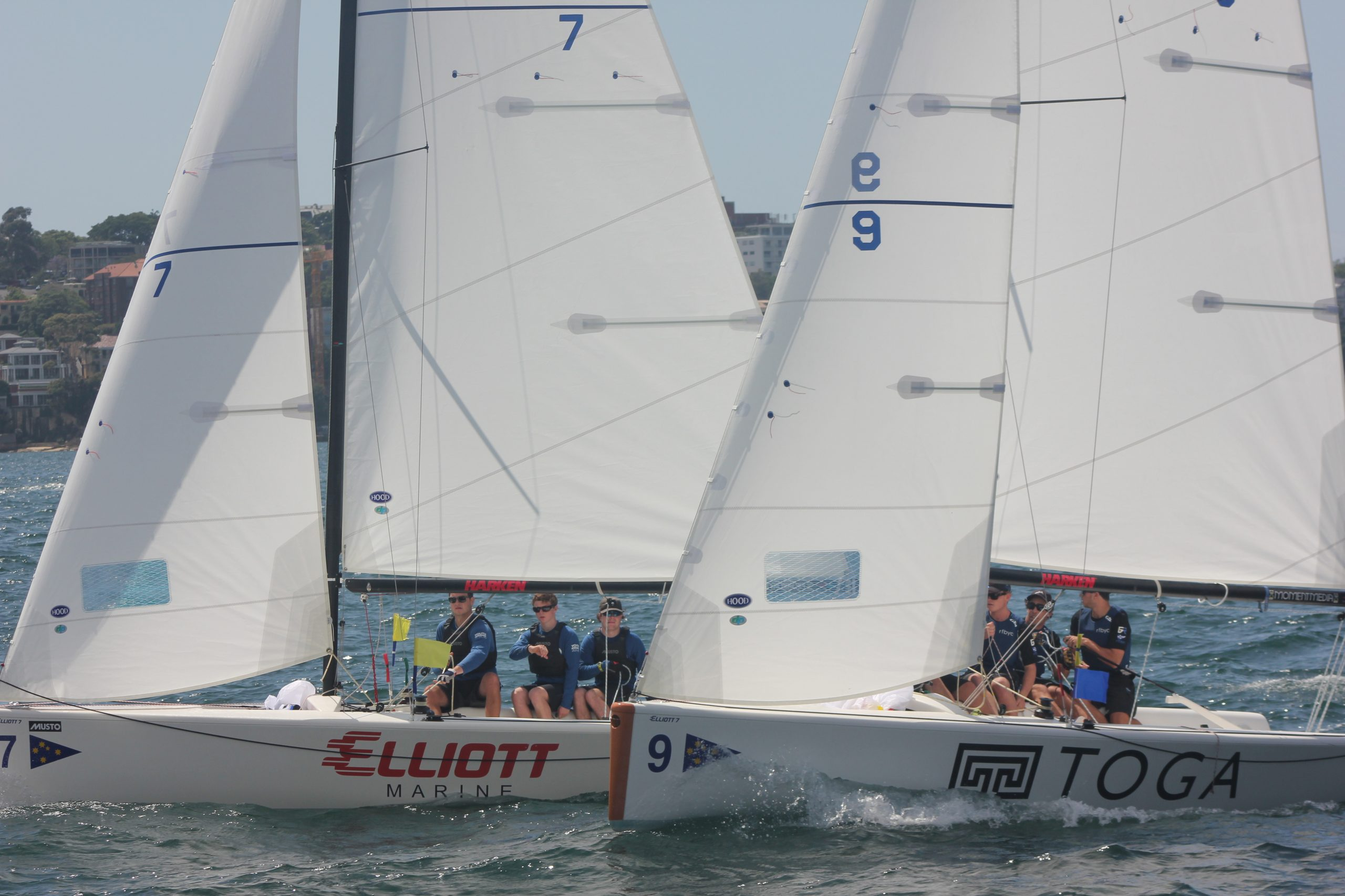 Close racing in identical boats gives the CYCA great sail training