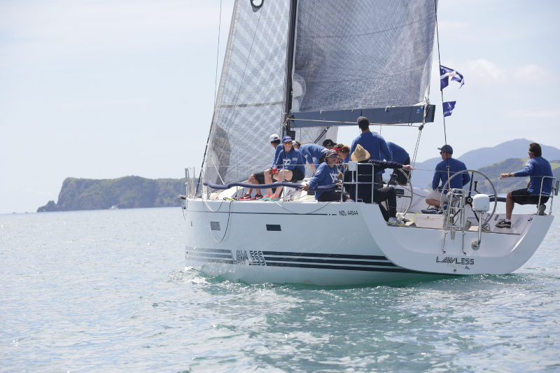 The RNZYS Youth Development squad on Lawless sailed to victory on IRC in B division. Photo Will Calver - ocean photography.co.nz.