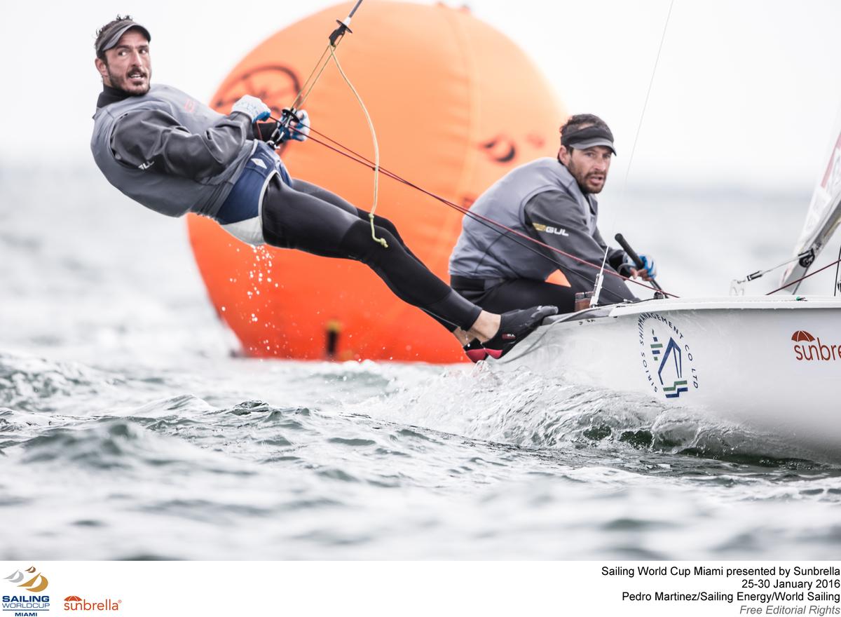 Panagiotis Mantis and Pavlos Kagialis at Sailing World Cup Miami. Photo Pedro Martinez.