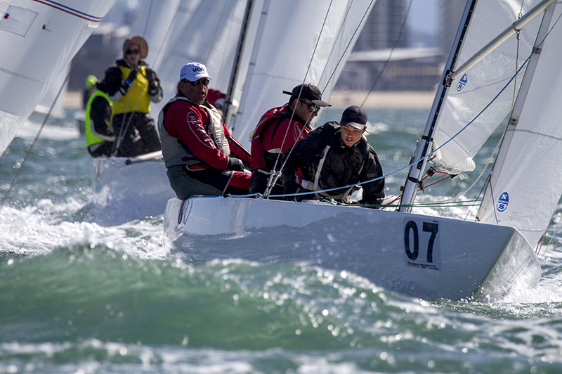 Mooloolaba Etchells Australasians organising committee chair Trevor Martin will be back on the water in this year's  20th anniversary regatta. Photo Teri Dodds.