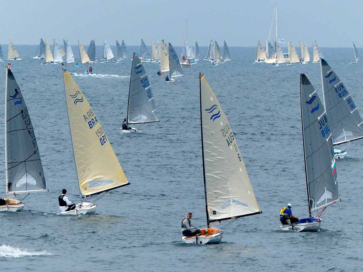 The Ultimate Callenge - the Finn Masters. Photo Robert Deaves.
