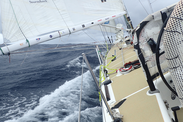 Rough conditions during Clipper Race. Photo Clipper Ventures.