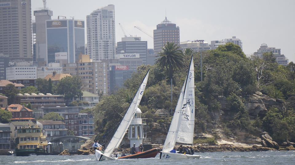 Match racing off Bradley's Head in the Hardy Cup. Photo RSYS.