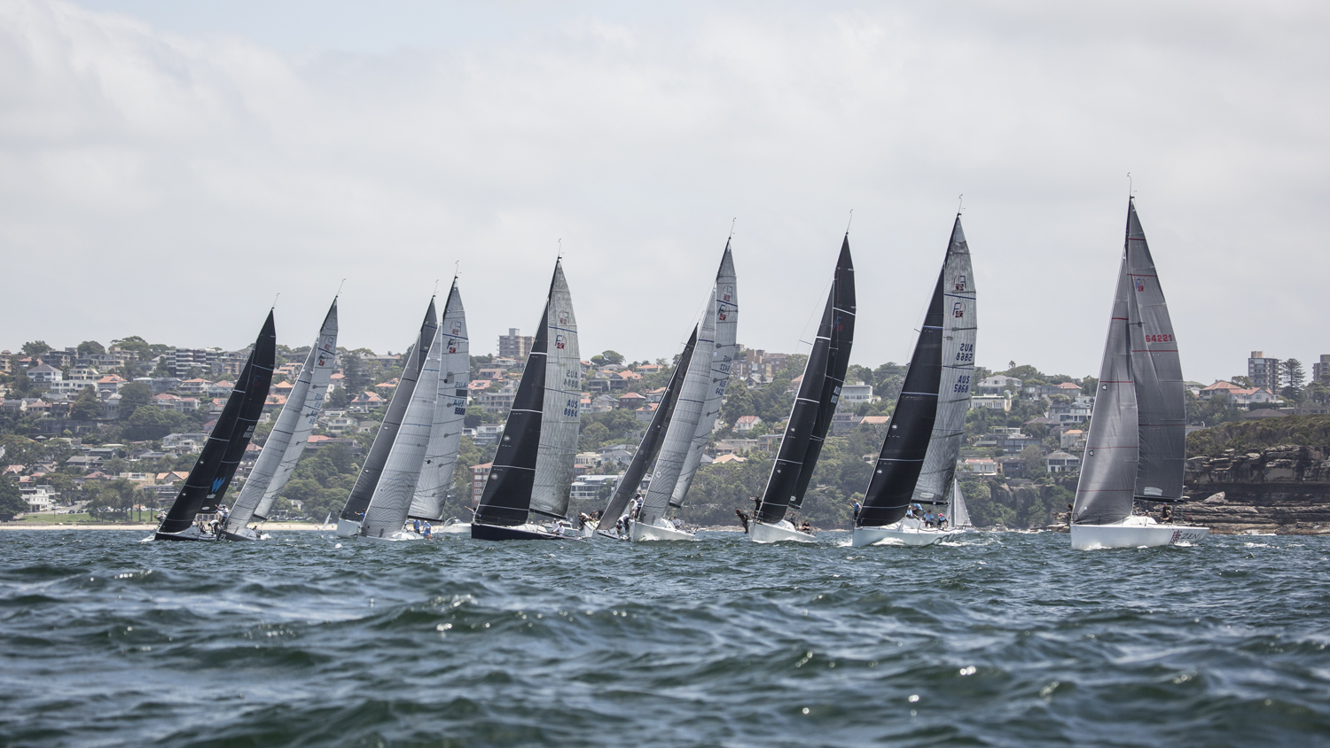 Start on day two of the Farr 40 National Championship. Photo Beth Morley.