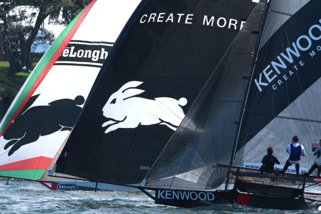 The two Rabbitohs logos together. Photo 18 Footers League.