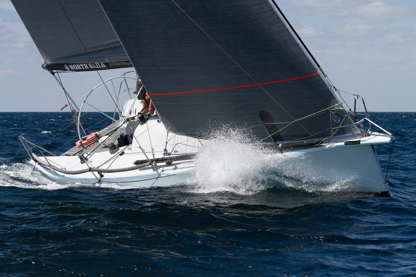 The Next Factor won Division 1 IRC after a strong finish by Black Betty. Photo Bernie Kaaks.