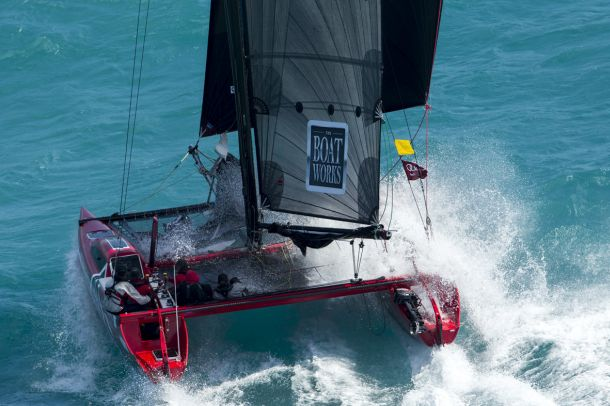 The Boat Works flying after the Dent Passage start. Photo credit Andrea Francolini.