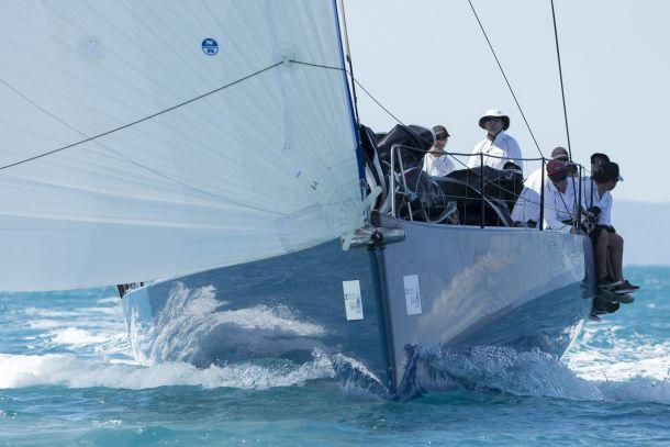 Matt Allen at the helm of Ichi Ban. Photo Andrea Francolini