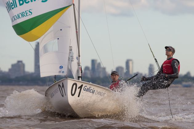Becher and Ryan at the 470 Worlds. Photo Matias Cappizzano.