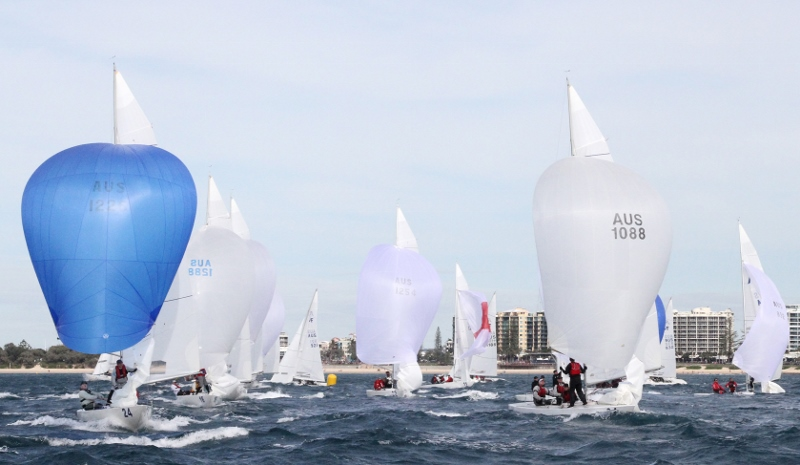 Another big Etchells Australasian Championship fleet is expected for the 20th anniversary regatta. Credit - Teri Dodds