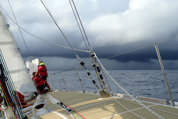 Racing to Qingdao in the Clipper Race. Photo Clipper Ventures.