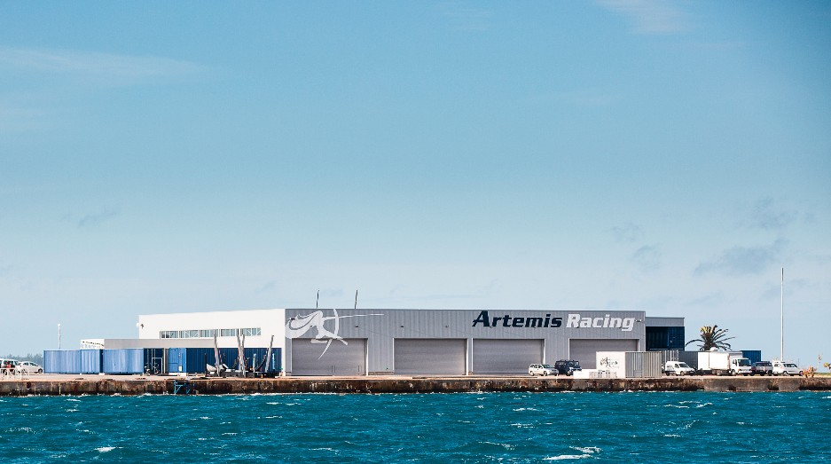 Artemis Racing base in Bermuda. Photo Martinez Studio.