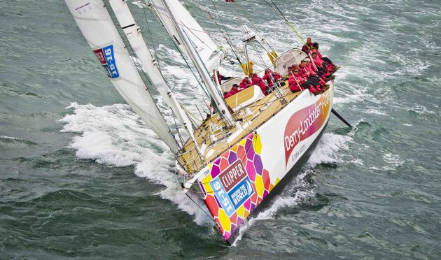 Derry-Londonderry-Doire wins the Clipper Race to China. Photo Clipper Ventures.