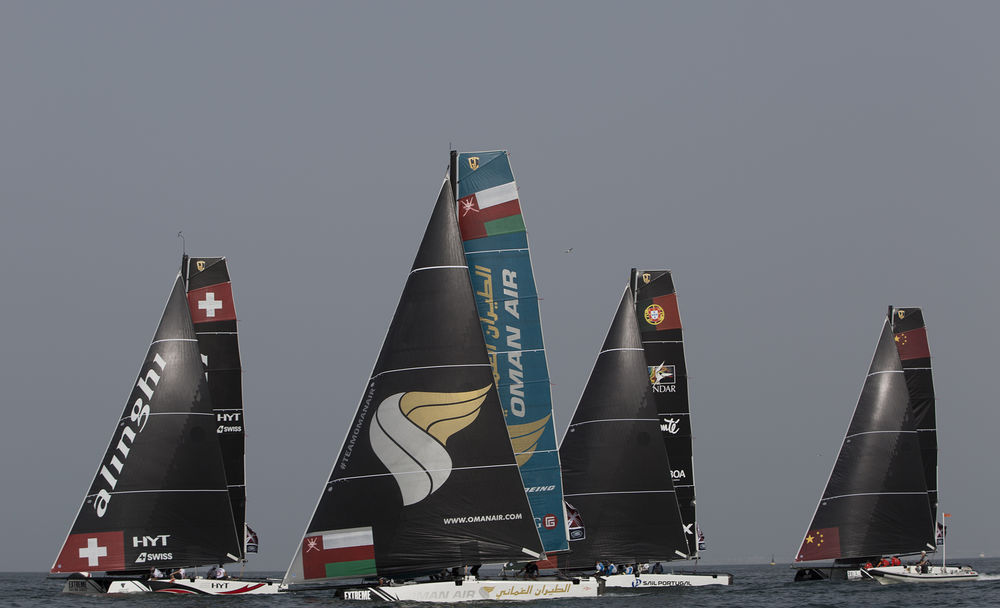 The new fleet of GC32s are currently racing in Muscat