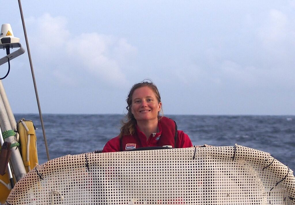 Sarah Young on board IchorCoal. Photo Clipper Ventures.
