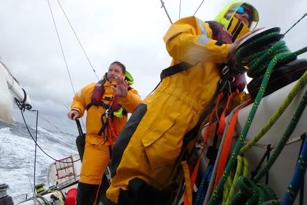 Tough conditions in the North Pacific. Photo Clipper Ventures.