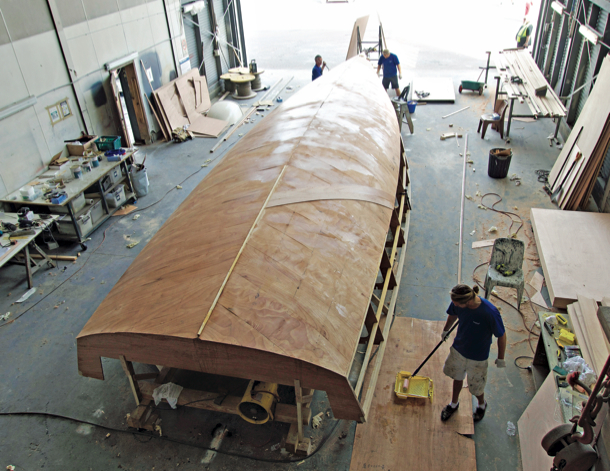 Building the Ritchie 38 at Noakes Boatyard. Photo Noakes.