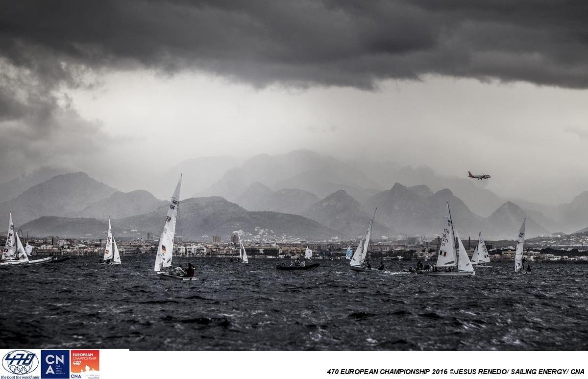 Day two of the 2016 470 Europeans. Photo Jesus Renedo/Sailing Energy.
