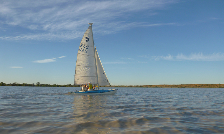 Lake Eyre sailing. Picture: Darius Kubilius.