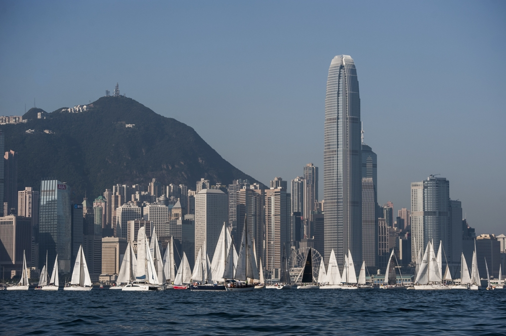 Hong Kong Harbour. Photo Xaume Olleros / Power Sport Images.