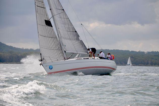 Jeanneau fleet enjoying Sail Port Stephens' Commodores Cup. Photo Mainsheet Media.