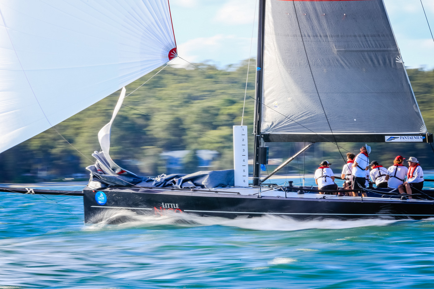 Little Nico leads Performance Racing after day one of Sail Port Stephens. Photo Saltwater Images.