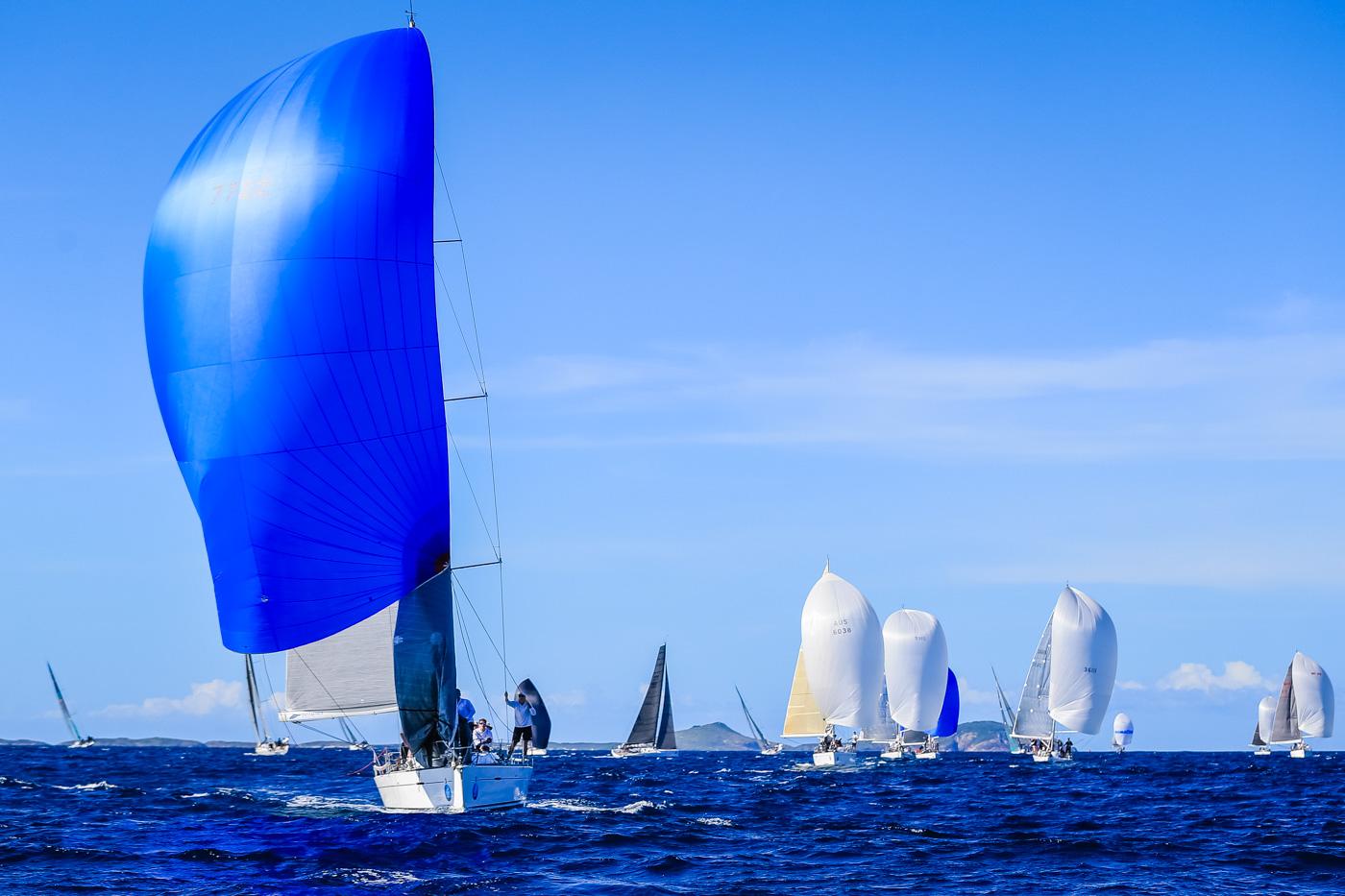 IRC division three fleet let by Justadash. Photo Saltwater Images.