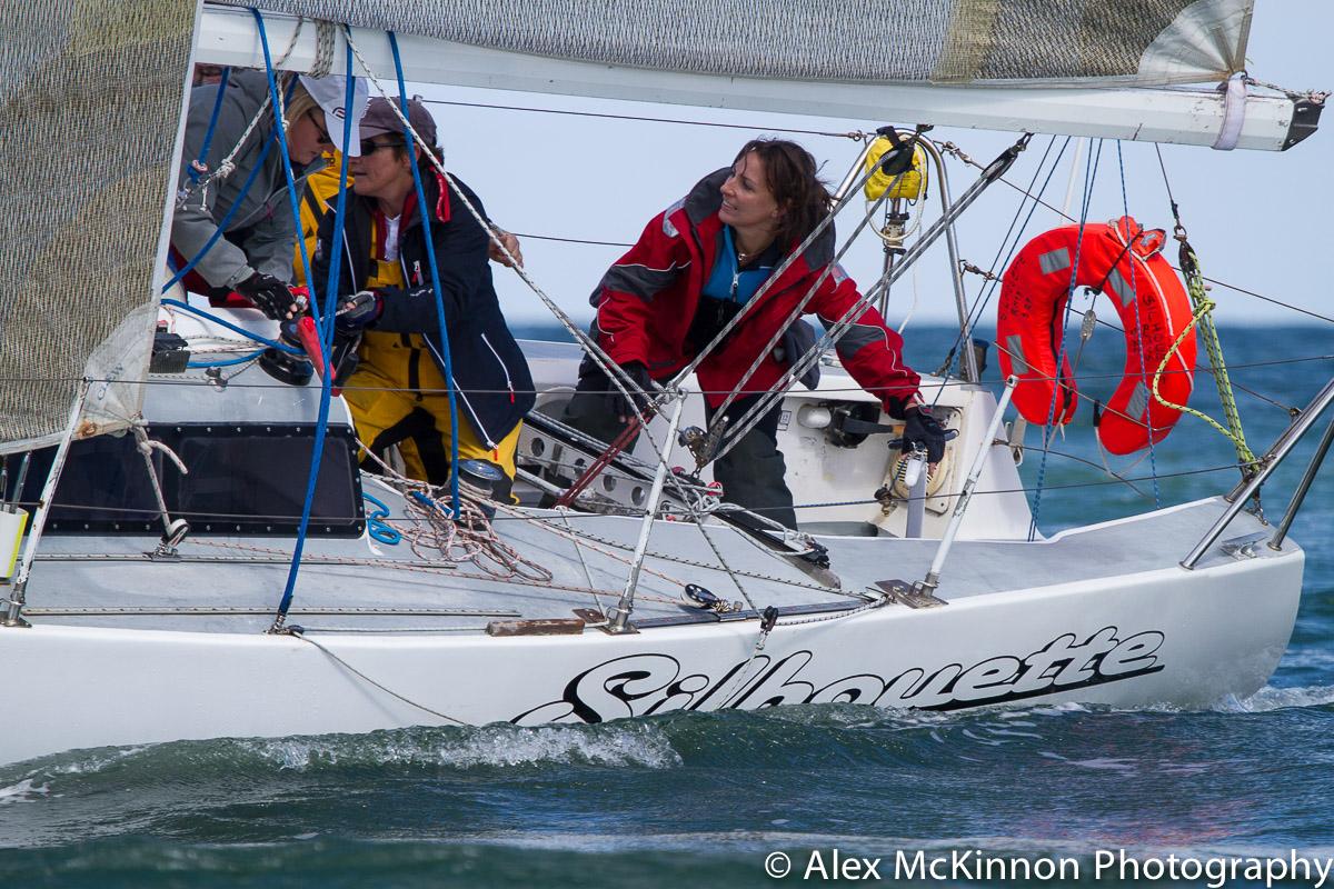 Racing at the Port Phillip Women's Championship Series. Photo Alex McKinnon.