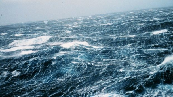 North Pacific storm waves as seen from the M/V NOBLE STAR