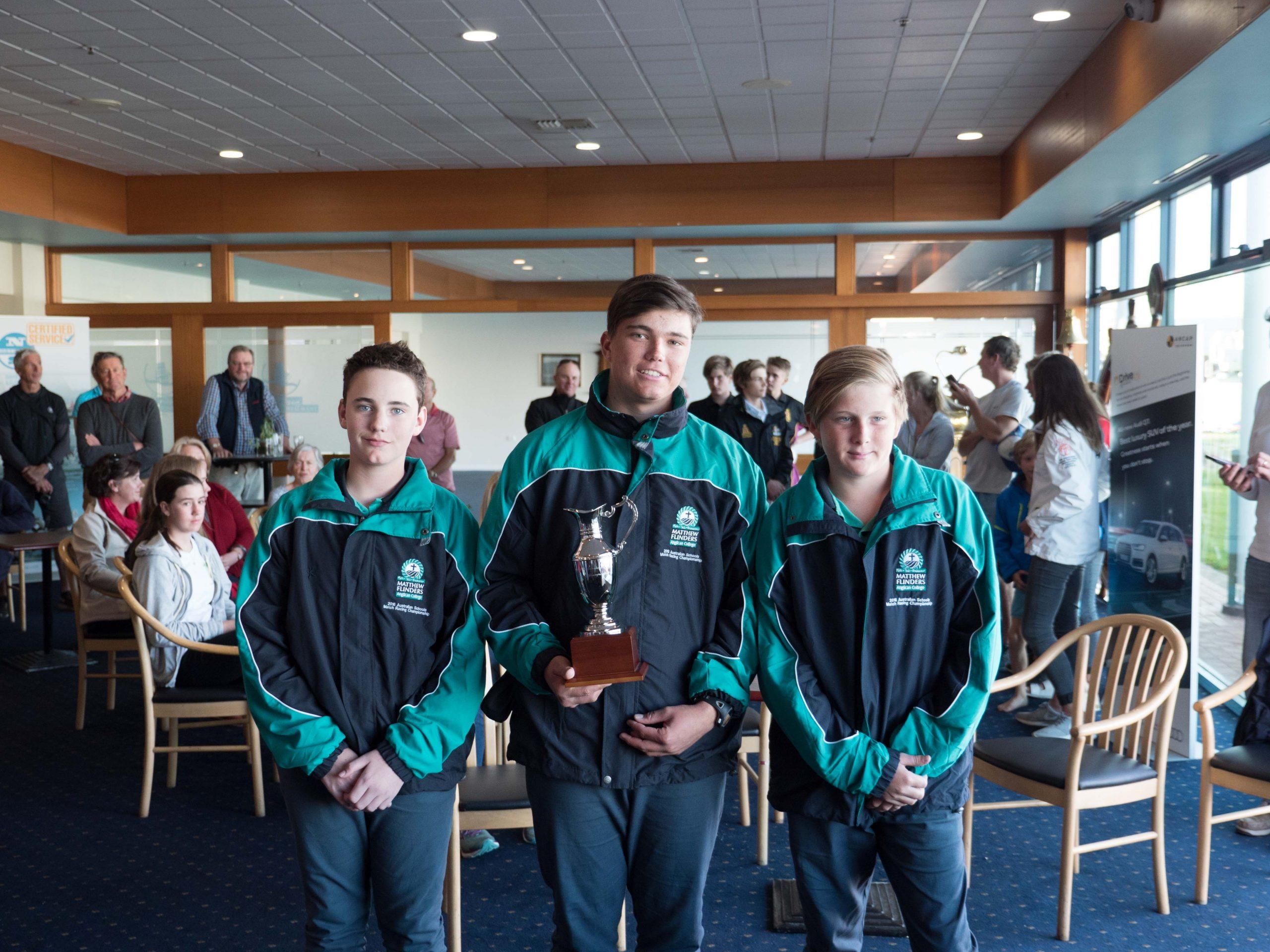 James Hodgson and his winning crew. Photo Zac Pullen