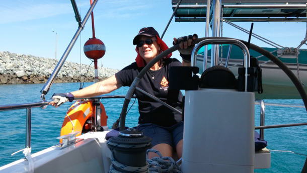 At helm
